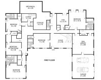 U Shaped House Plans Single Level   Home Ideas--floor ...