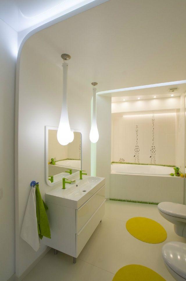 badezimmer ohne fenster indirekte beleuchtung pendelleuchten grüne - badezimmer ohne fenster
