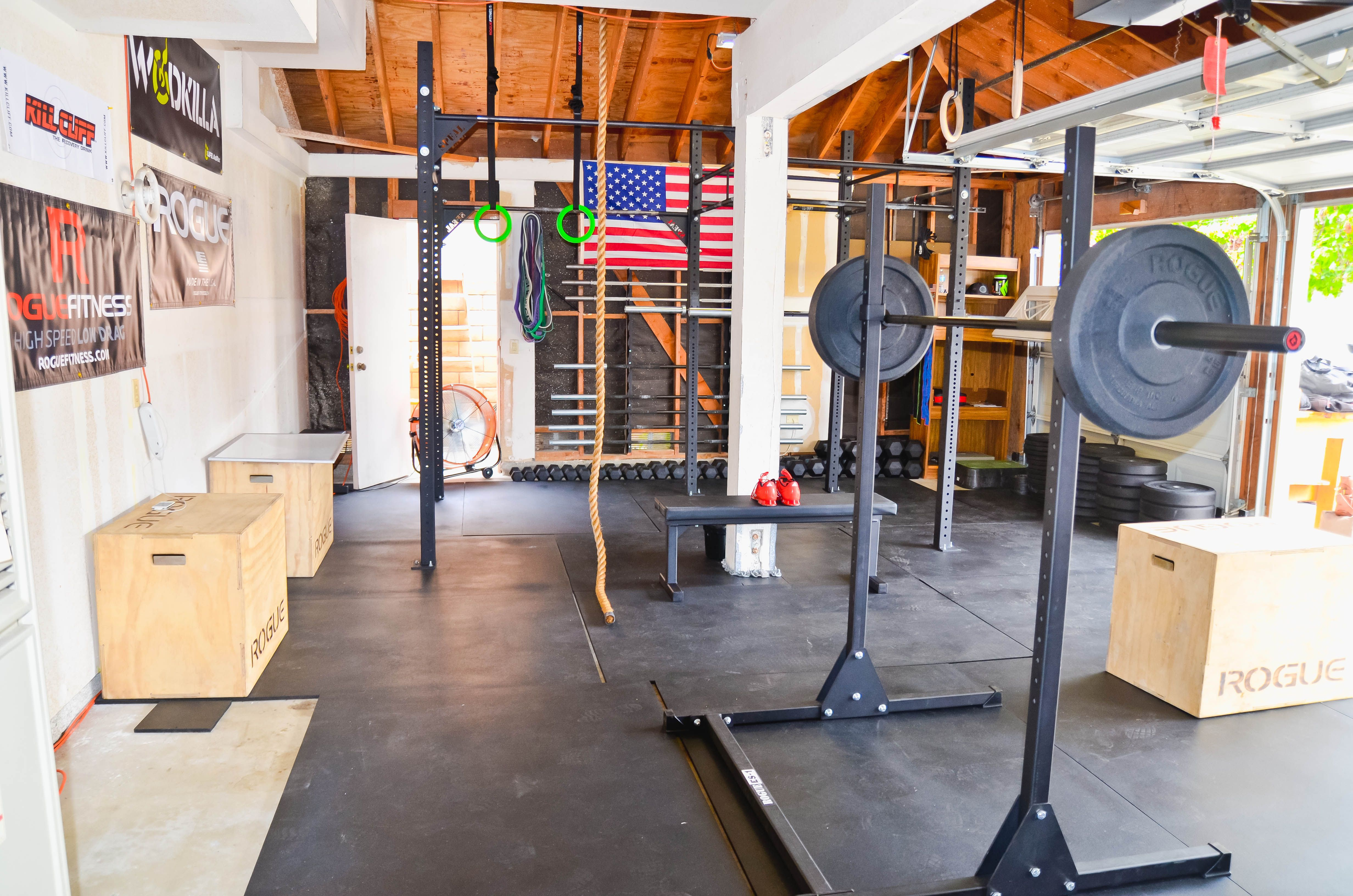 Garage Gym Storage Ideas Garage Gyms Rogue Equipped Gyms Home Gyms Pinterest