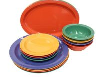 Melamine plastic dishes, bowls, platters and mugs, GET ...