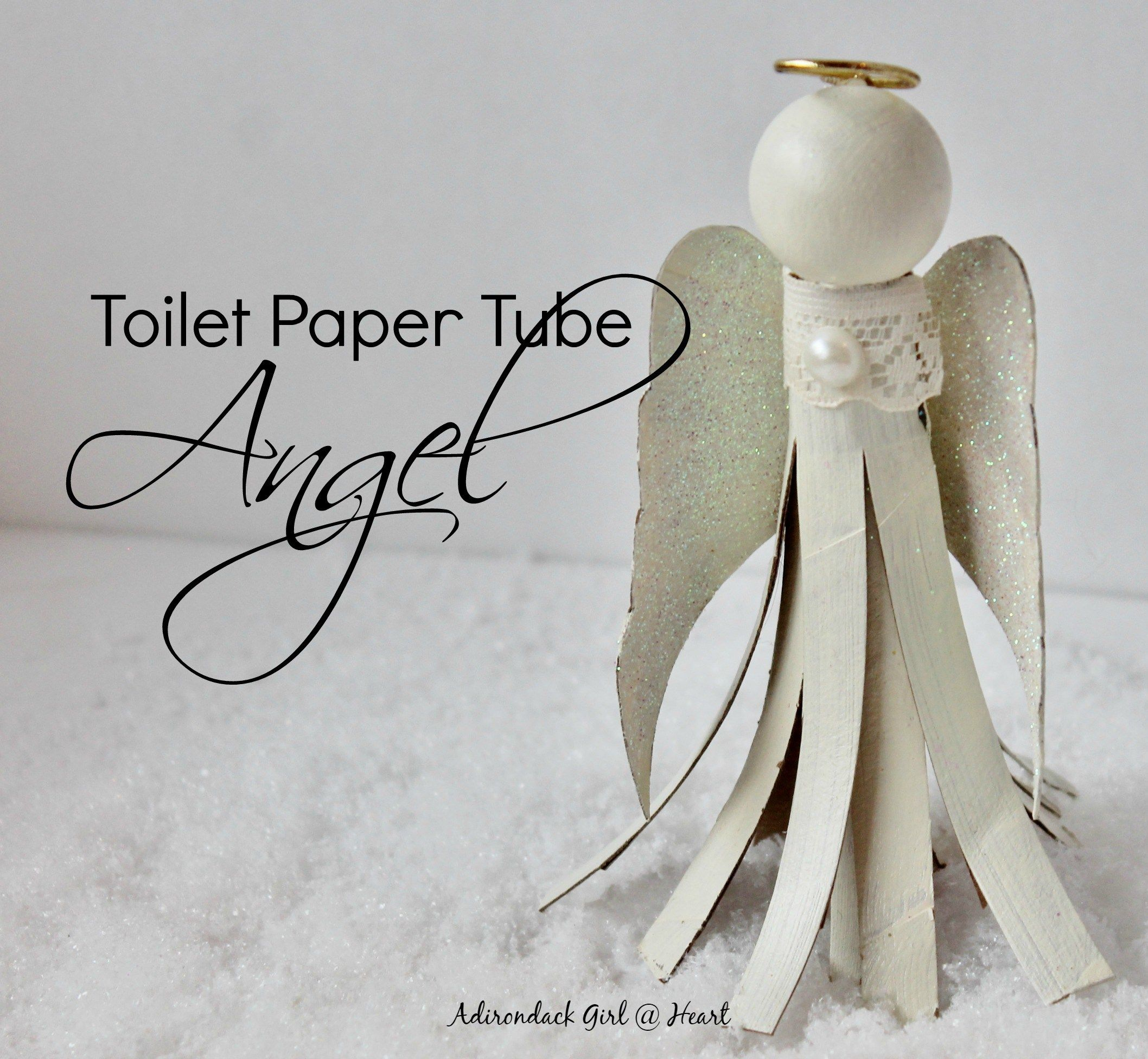 Funny Toilet Paper This Diy Angel Ornament From A Toilet Paper Roll Is So