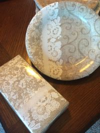 Cake paper plates and napkins | Country Chic Wedding ...