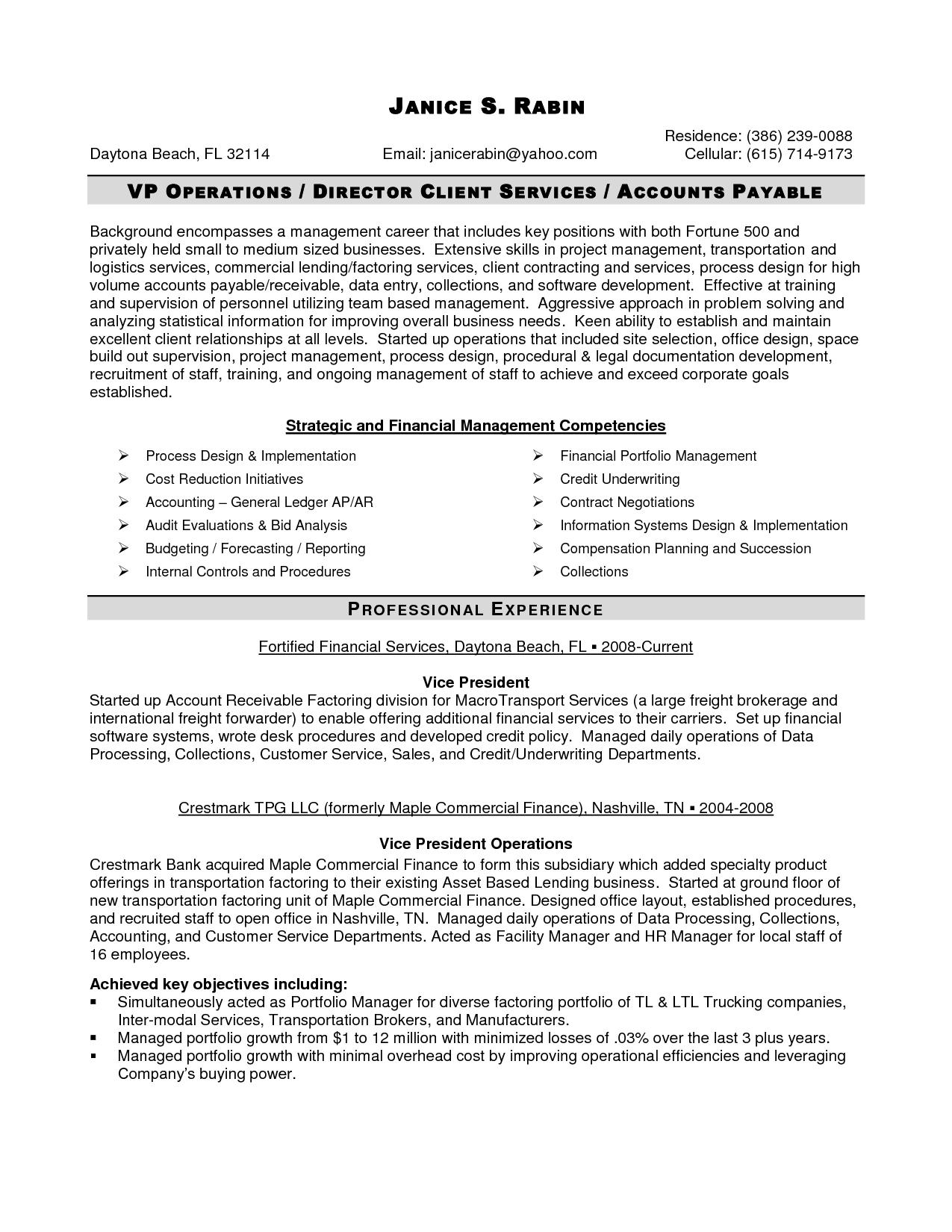 exemple de cv credit manager
