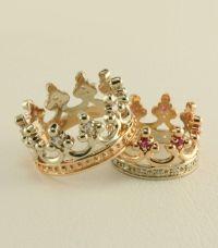 Crown wedding ring set, Royal wedding rings, Women crown ...
