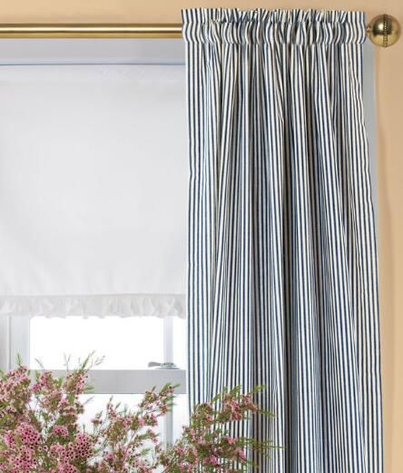 Ticking Stripes Rod Pocket Curtains - Country Curtains® Home - country curtains for living room