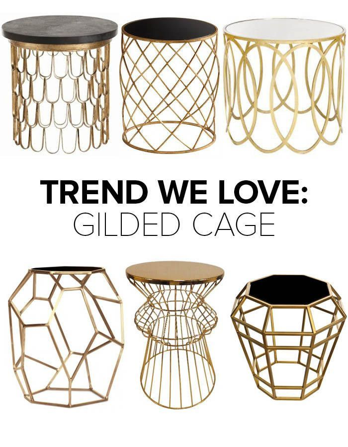 Trend We Love Gold Wireframe Side Tables Georgia, Target and Gold - target living room tables