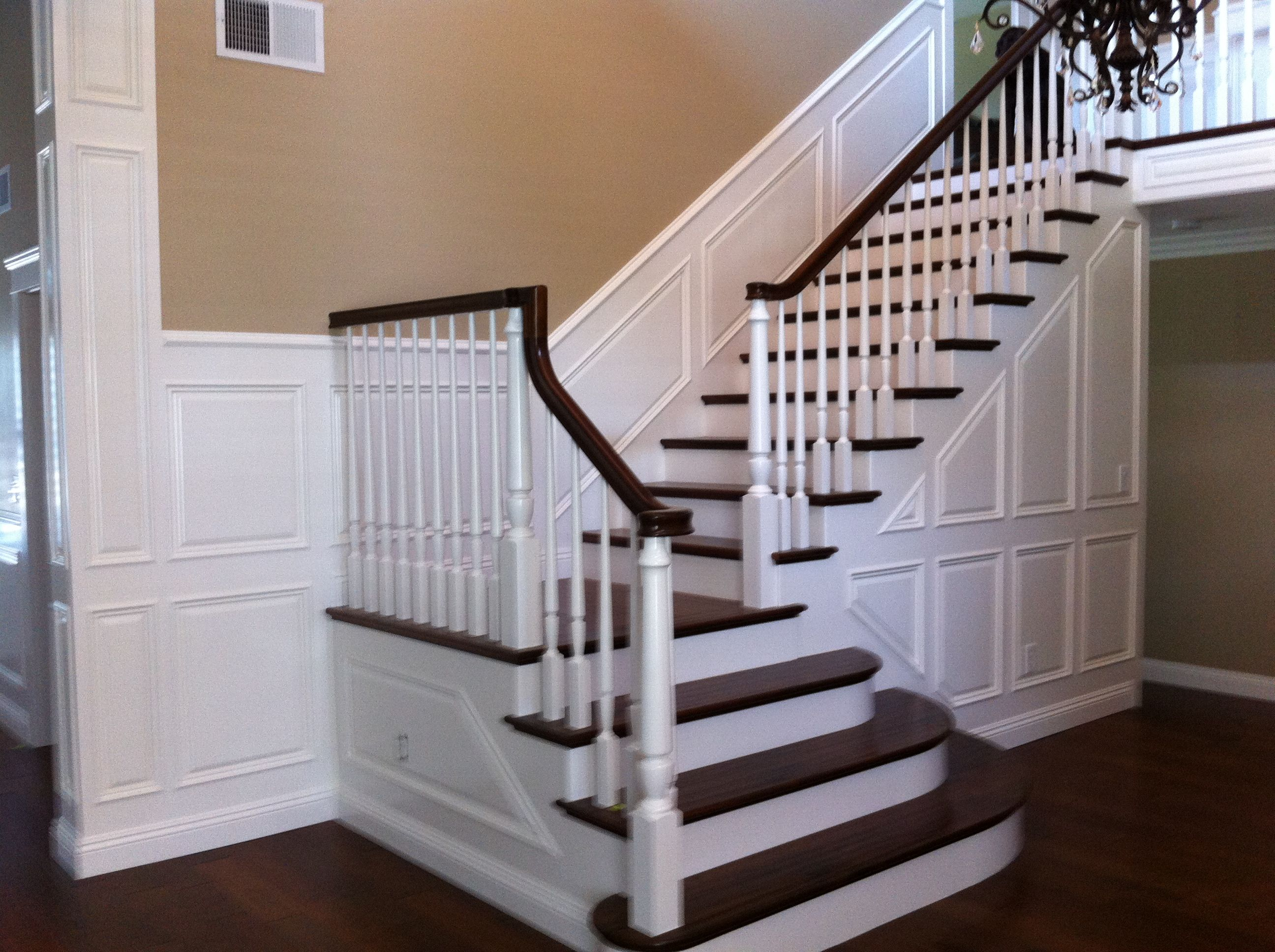 Paneled Staircase Pictures Of Decorative Trim On Vaulted Walls Wainscoting