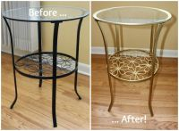 DIY Ikea Hack: Brass Accent Table | Furniture, Sprays and ...