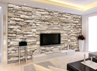 3D Effect Brick Stone Wallpaper For Interior Designs ...