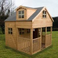Large 2 Storey Playhouse -Dorma Windows - Front End ...