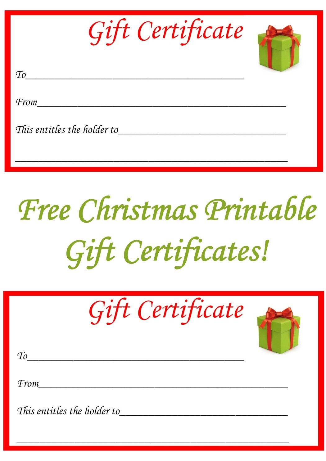 gift certificate printable template free