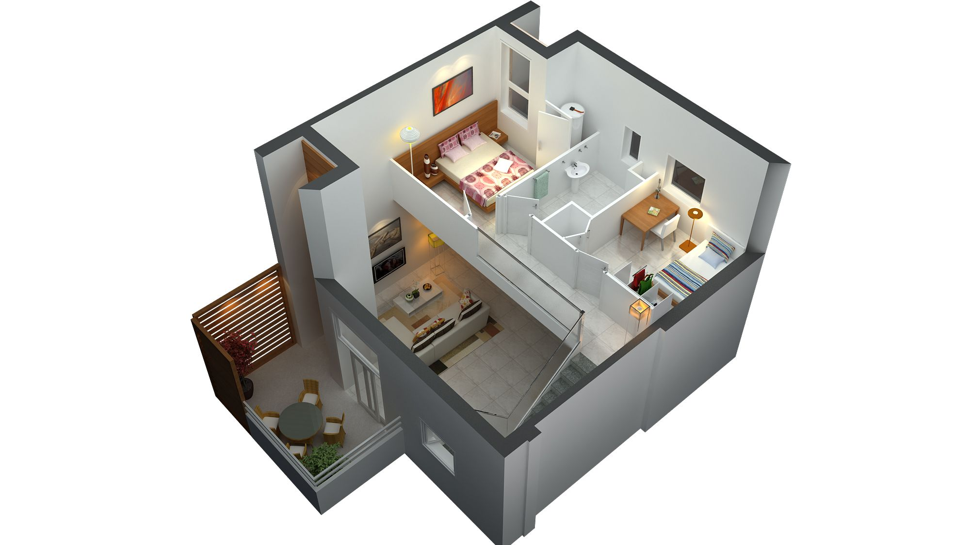 3d Home Decor 3d Floor Plan Small House Plans Pinterest 3d