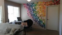 My paint sample wall from Wal-Mart and Home Depot is up ...