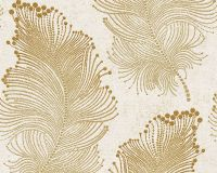 Baroque Floral Wallpaper in Gold and Ivory design by BD ...