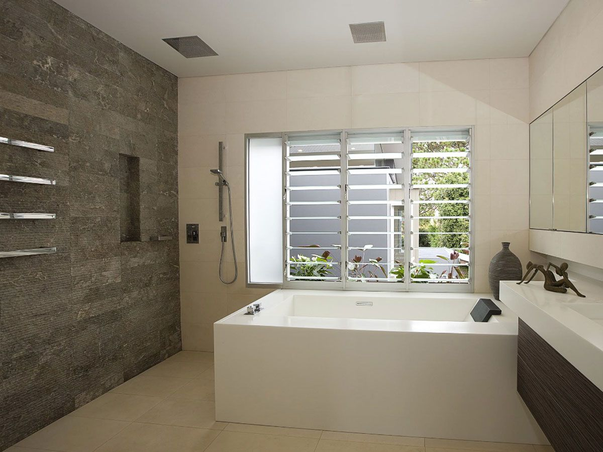 Grey Bathroom Cladding Feature Wall Bathroom Google Search Small Bathroom