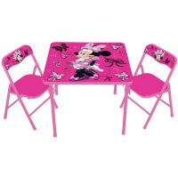 Kids Only Disney Minnie Mouse Activity Table and Chair Set ...