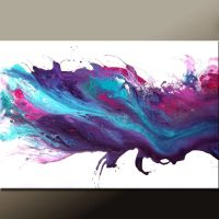 Abstract Canvas Art Painting 36x24 Original Purple & Blue ...