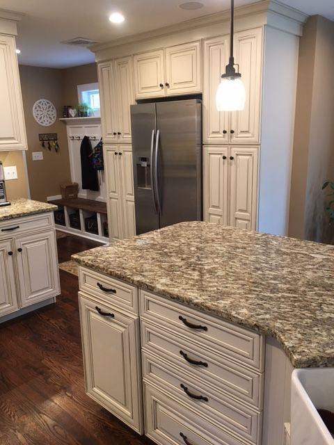 Cream Kitchen Island Unit Waypoint Living Spaces Cabinetry 720f Hazelnut Glaze