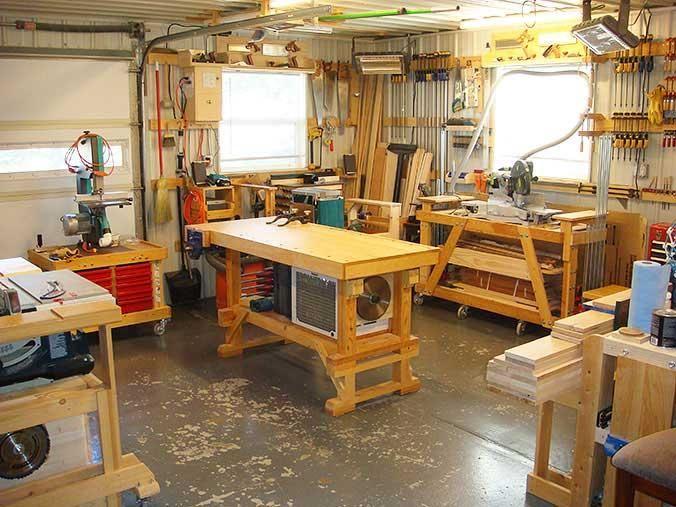 Good Home Workshop Design Ideas #2 - Small Woodworking Shop Design - home workshop ideas