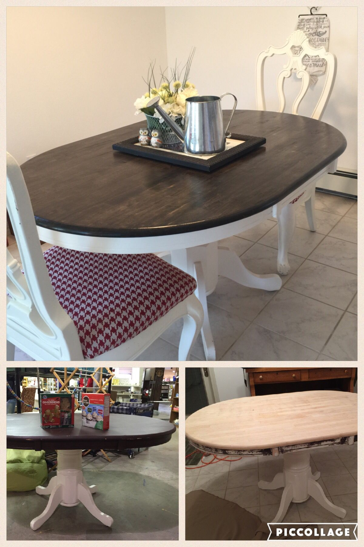 oval kitchen table Farmhouse Oval Dining Table 10 thrift store table refinished to fit my in progress