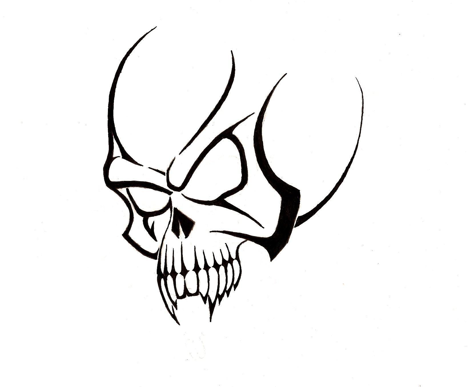 Free skull tattoo designs to print clipart best