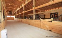 Barn Plans -10 Stall Horse Barn - Design Floor Plan | Barn ...