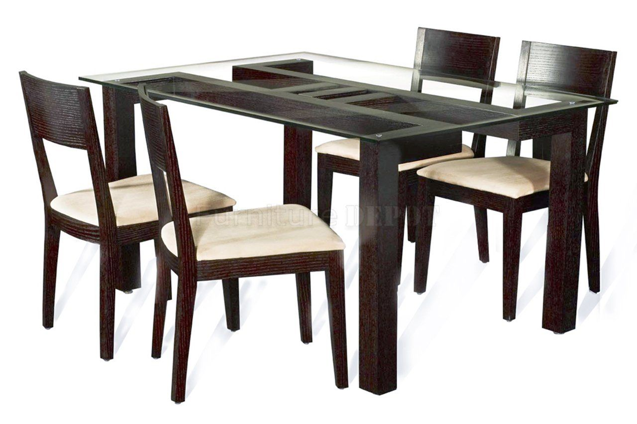 modern kitchen table chairs Furniture Top Notch Dining Table With Round Beveled Edge Tempered