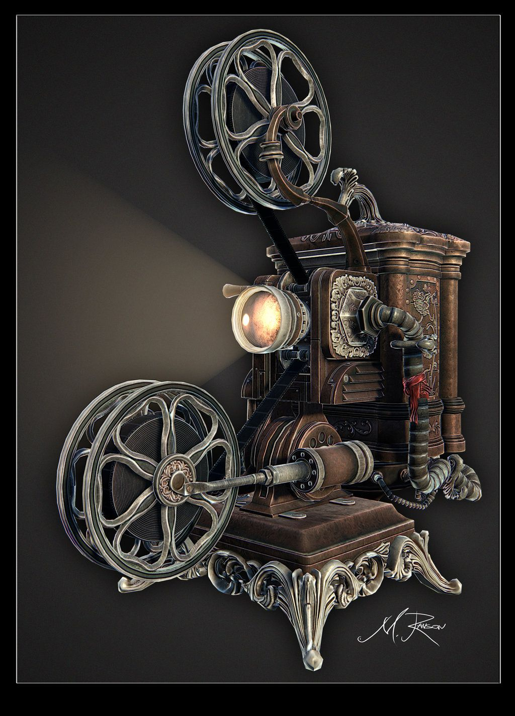 Steampunk Ideas 39steampunk 39 Ampro Projector Final01by Lost Artist89