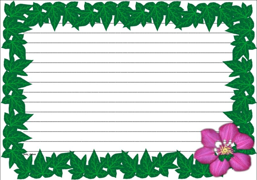 A set of spring time themed lined paper and page borders for your - lined page