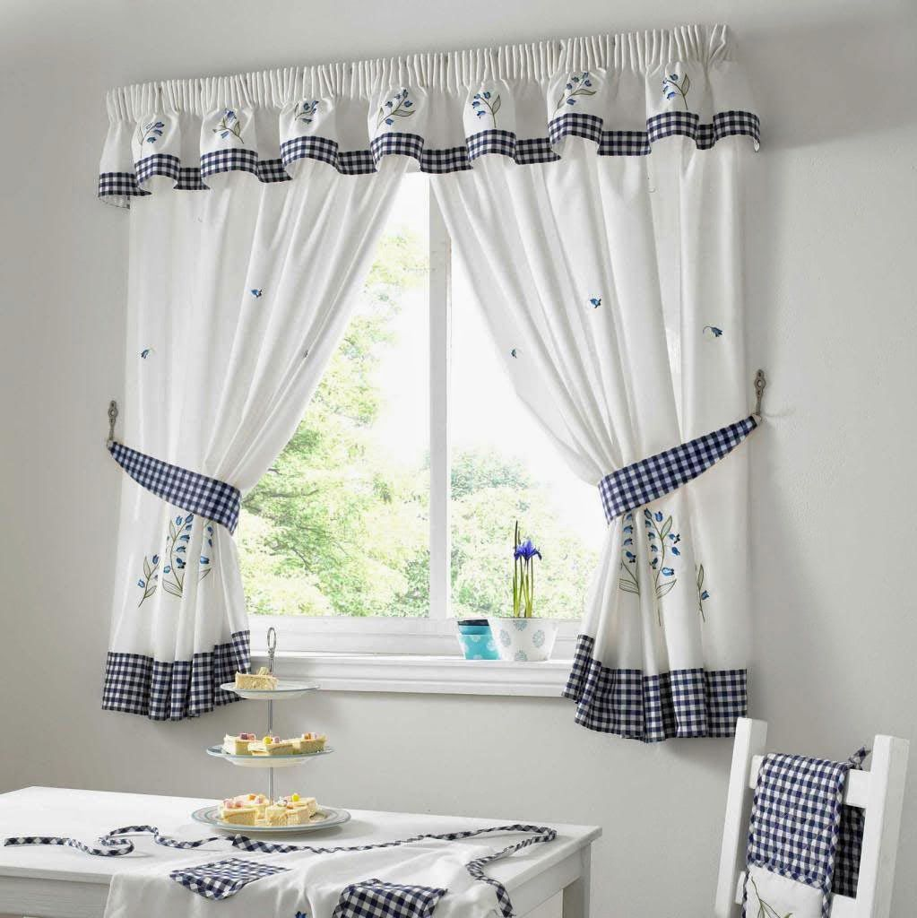 Karo Gardinen Kitchen Curtains Blue Gingham. Kitchen Curtains Blue Green