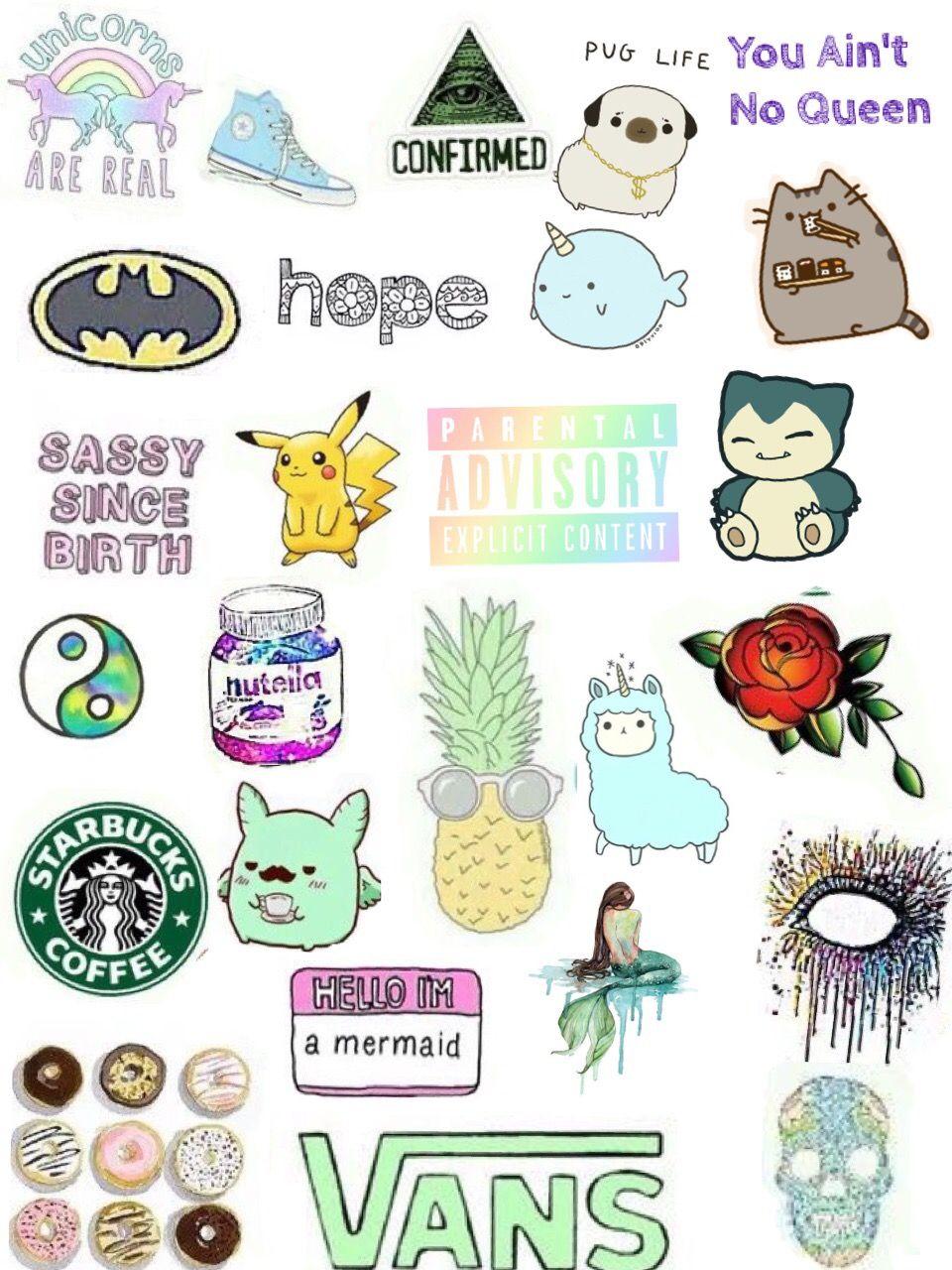 Emoticons Cute Wallpaper Collage Tumblr Stickers Www Pixshark Com Images