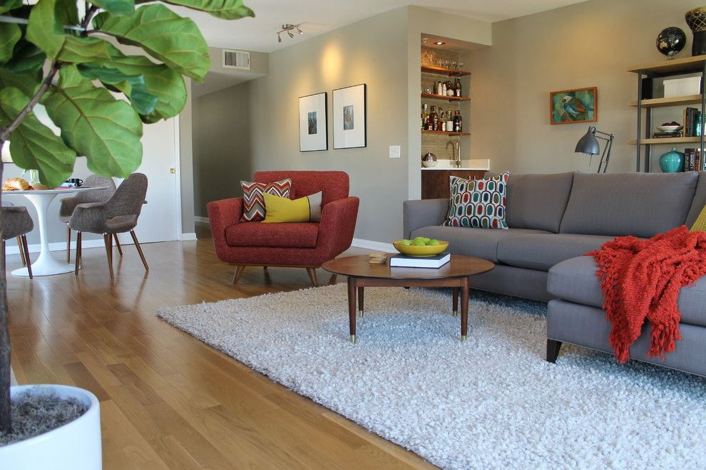 Pretty Apartment Sofa convention Los Angeles Midcentury Living - living room armchair