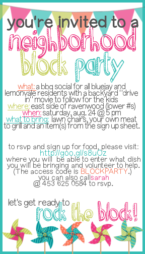neighborhood party invitation template