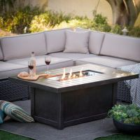Napoleon Rectangle Propane Fire Pit Table - Fire Pits at ...