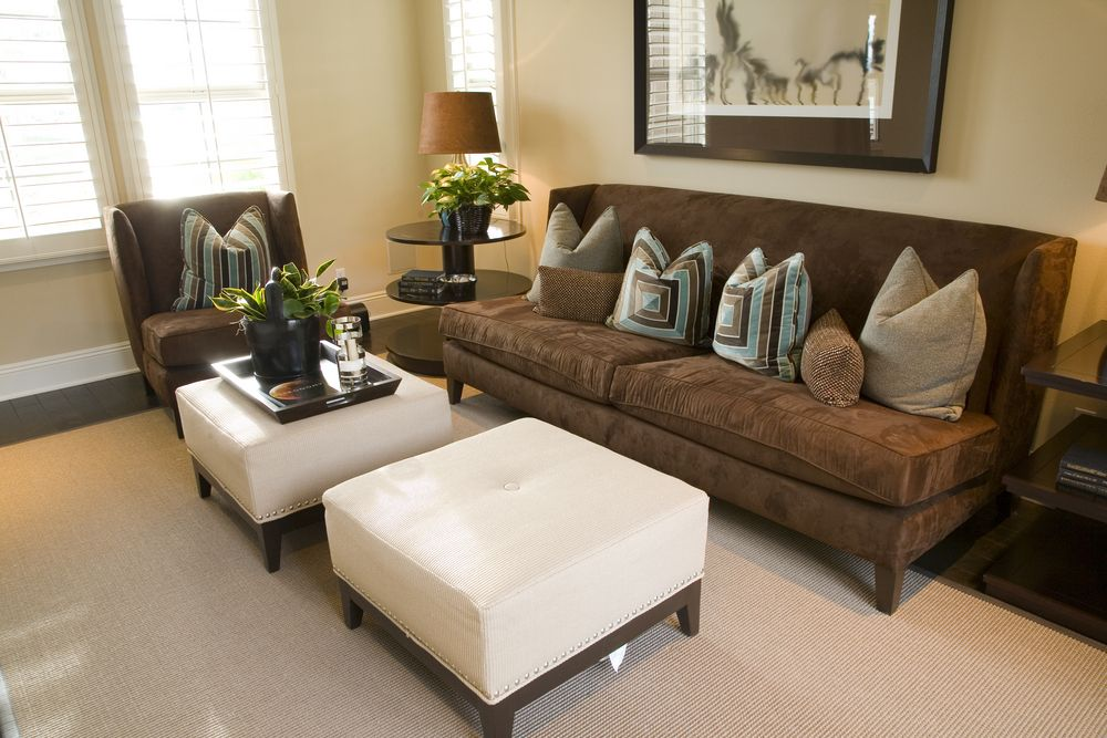 Not the best-designed living room, but itu0027s included here to - living room ottoman
