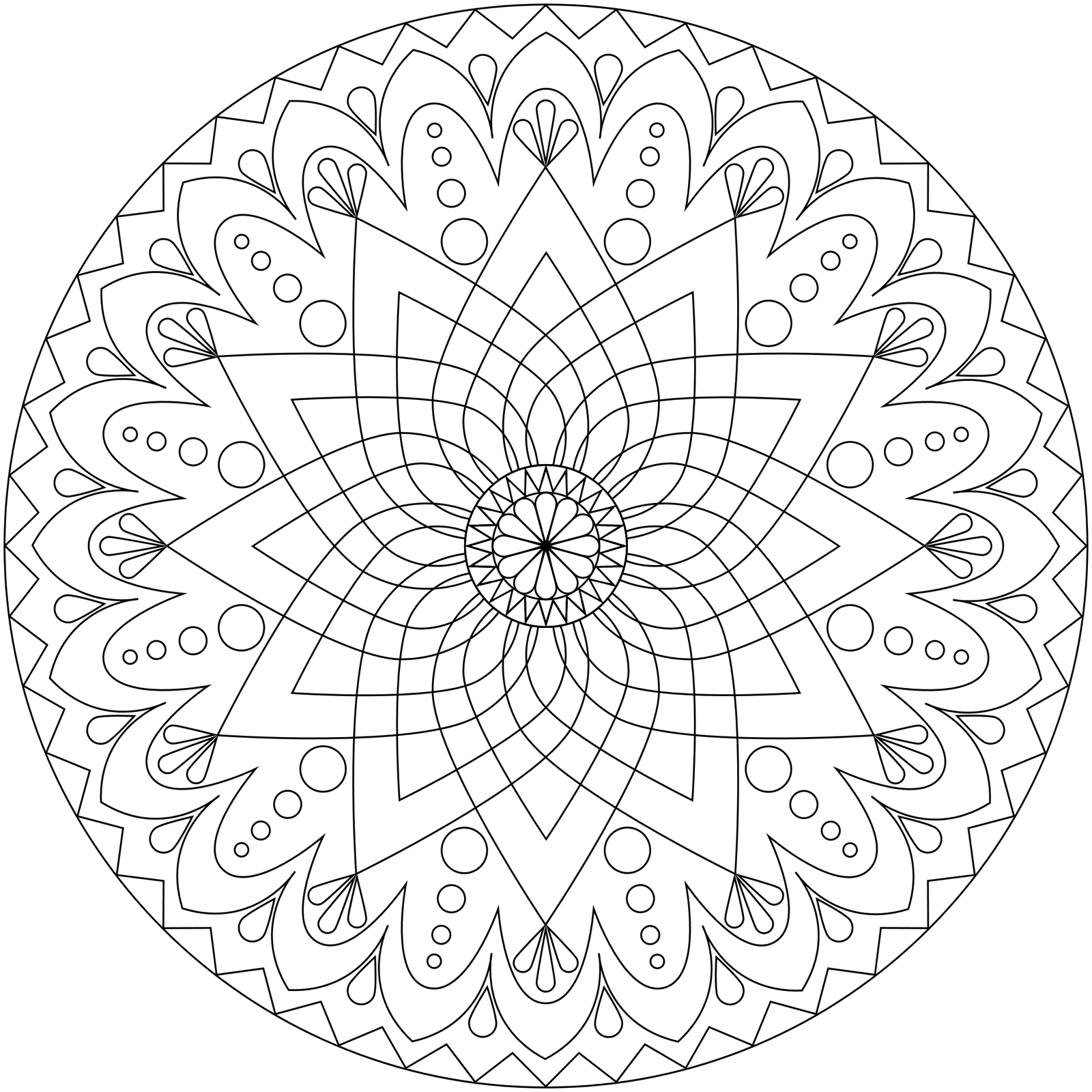 Stress relief coloring pages mandala - Download