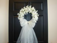 weddings door wreaths First Communion front door outdoors ...