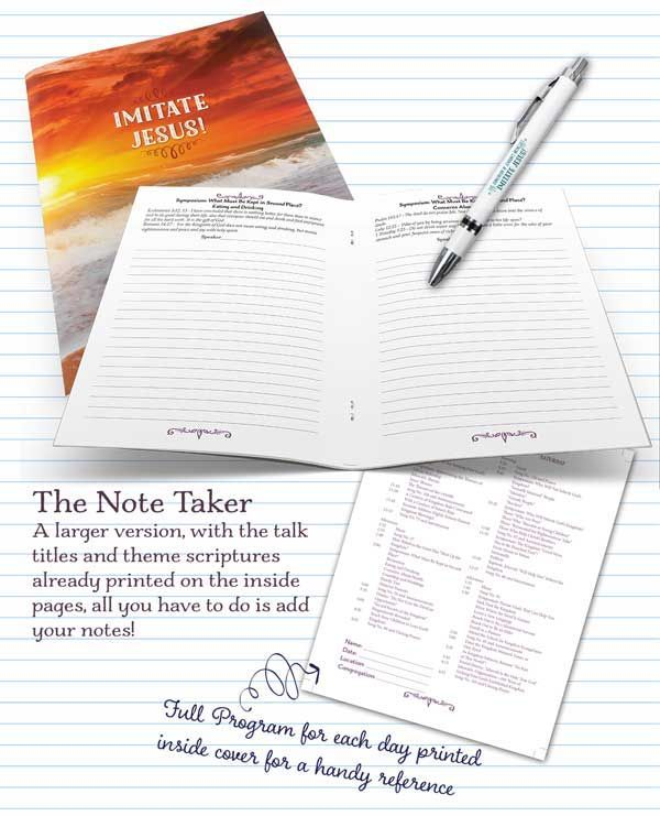 jehovahs witnesses convention notebook