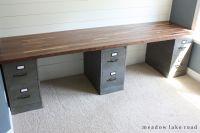 Butcher Block Desk Top | Butcher block desk, Custom desk ...