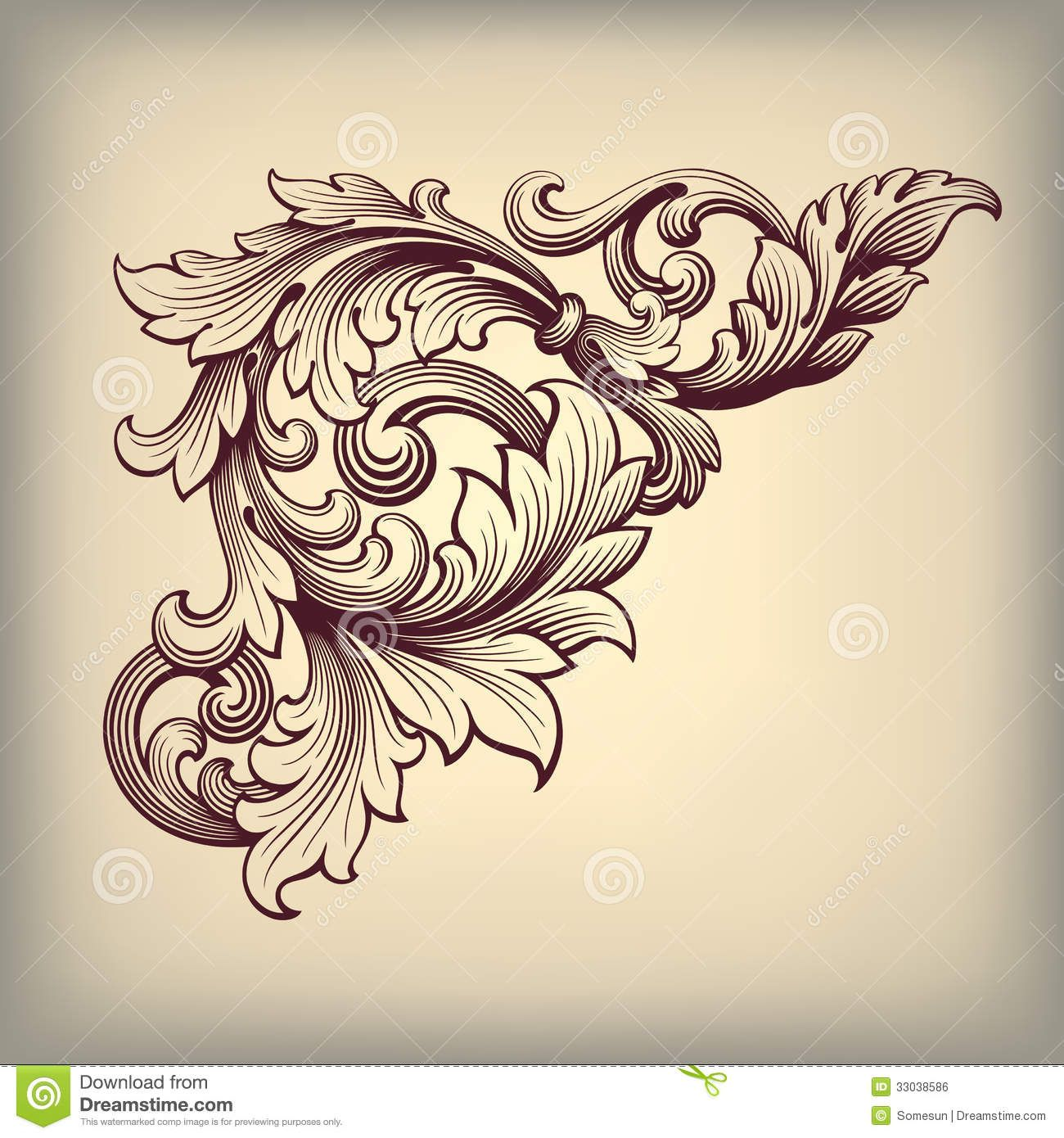 Meuble Baroque Design Baroque Design Vector Vintage Baroque Scroll Design
