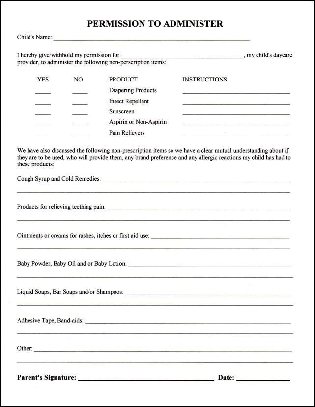 Child Medical Consent Form Emergency Medical Consent Form Sample - travel consent form sample