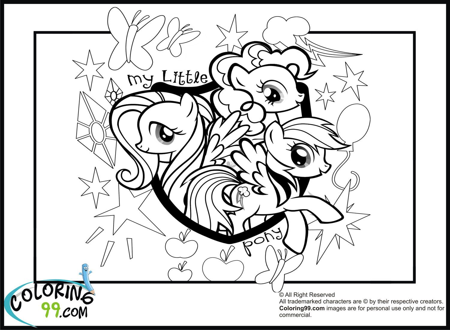 My little pony coloring pages to print jpg