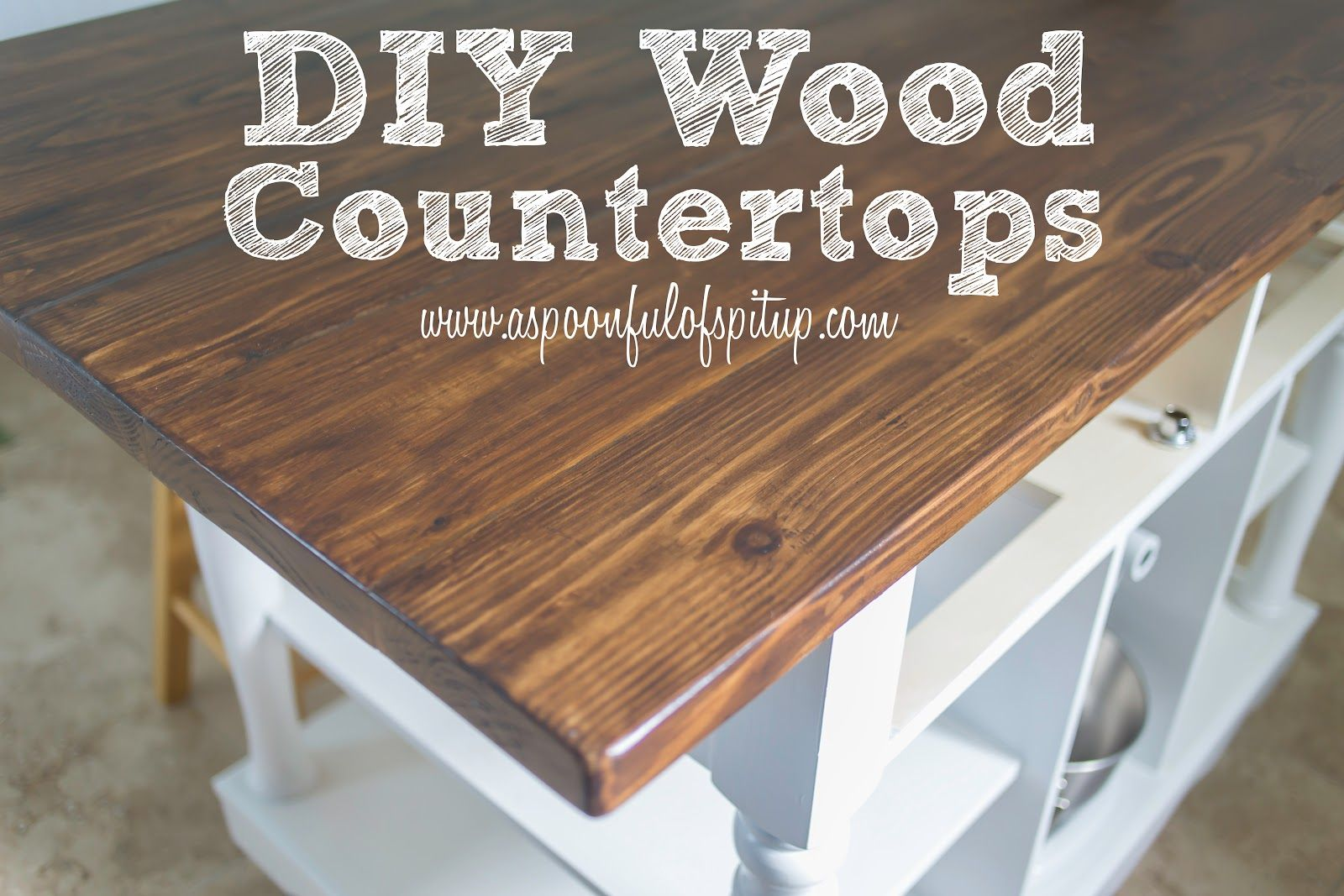 wooden kitchen countertops Charming Butcher Block Countertops For Kitchen Furniture Inspiration A Spoonful Of Spit Up DIY Wood Butcher Block Countertops