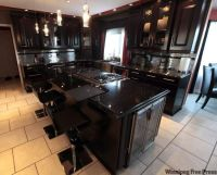 Black Kitchen Cabinets with Black Countertops | Kitchen ...