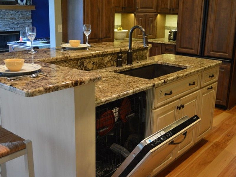 Kitchen Islands With Dishwasher Kitchen Island With Sink And Dishwasher - Google Search