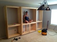 Domesticability: Media Room Progress--Media Cabinet Built ...