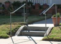 galvanized pipe handrail. Three lengths of threaded pipe ...