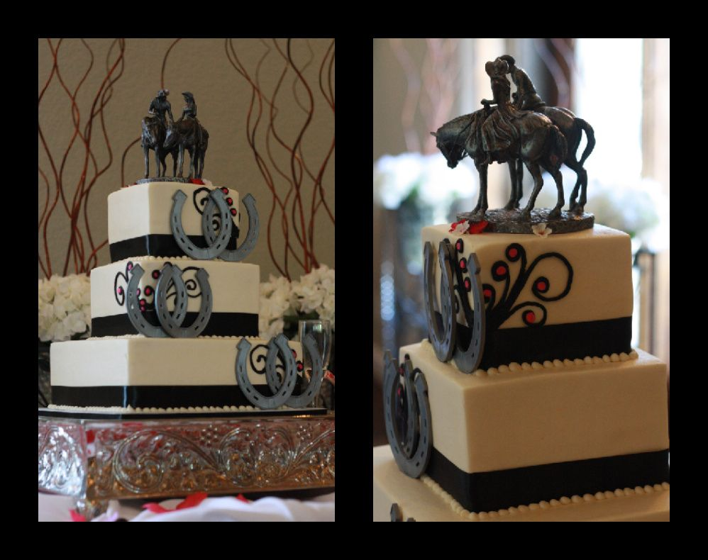 western wedding ideas Cowboy wedding cakes make horse ring to go around cake plate to pick up