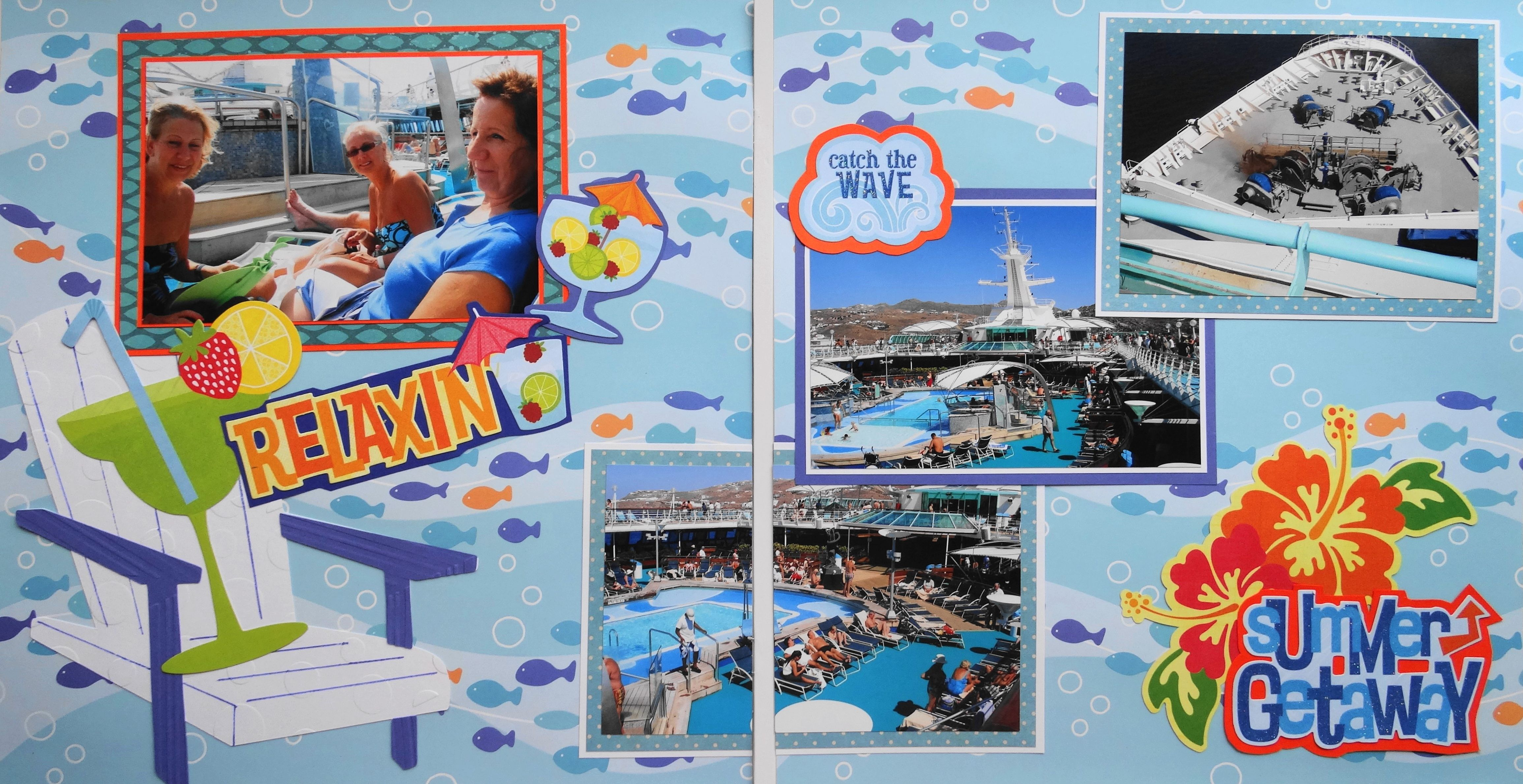 Scrapbook ideas new orleans - Scrapbook Ideas New Orleans Scrapbook Page Cruise At Sea Day 2 Page Travel Layout With Download