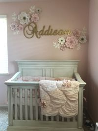 Baby Girl Nursery with pink and gold theme | Baby Girl ...